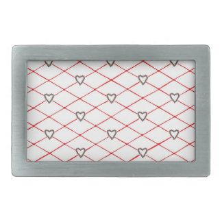 ポインセチアのハートの赤いCrissの十字のベルトの留め金 長方形ベルトバックル