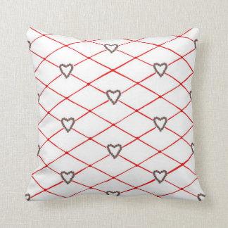 ポインセチアのハートのCrissの十字のキルトパターン枕 クッション