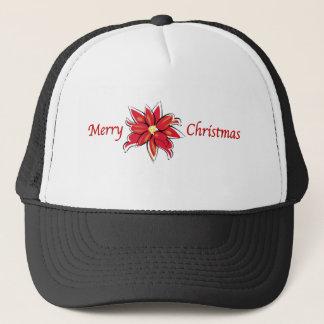 ポインセチアのメリークリスマス キャップ