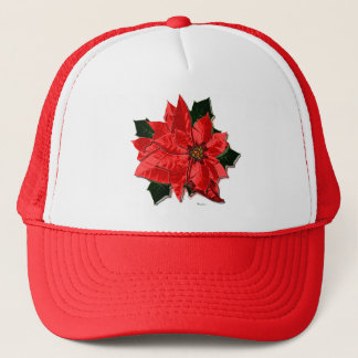 ポインセチアの弁柄、帽子 キャップ