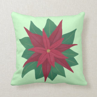 ポインセチアの花のクリスマスの枕の絵画 クッション