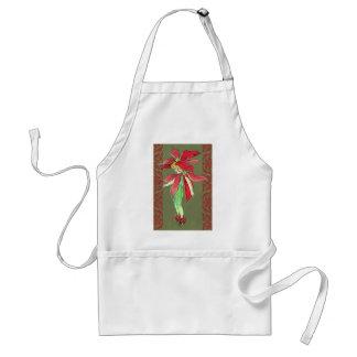 ポインセチアの花の妖精 スタンダードエプロン