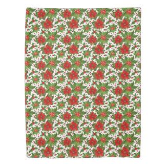ポインセチアパターン(1つの側面)羽毛布団カバー 掛け布団カバー