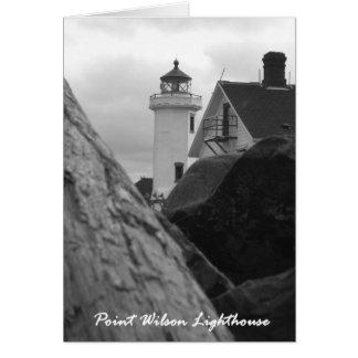 ポイントウイルソン灯台、港Townsend、オレゴン カード