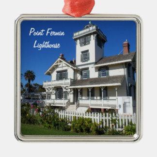 ポイントフェルミンの灯台、サンペドロ メタルオーナメント