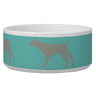 ポイントペットボウルのWeimaraner 犬用水皿