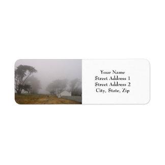ポイントレイエスの霧深い差出人住所ラベル ラベル