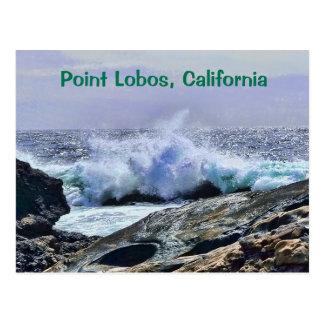 ポイントロボスの中央海岸カリフォルニア ポストカード