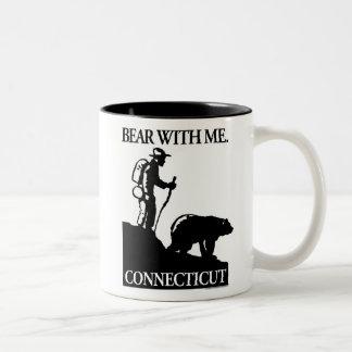 ポイント北のスタジオ「私を持つくま」コネチカット ツートーンマグカップ