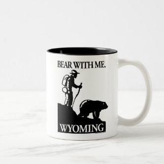 ポイント北のスタジオ「私を持つくま」ワイオミング ツートーンマグカップ