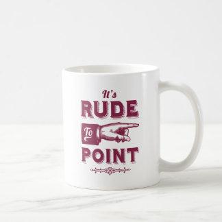 ポイント-おもしろいなヴィンテージのイラストレーションへのその失礼 コーヒーマグカップ