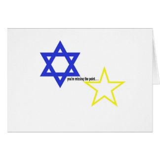 ポイント-ダビデの星--を恋しく思います カード
