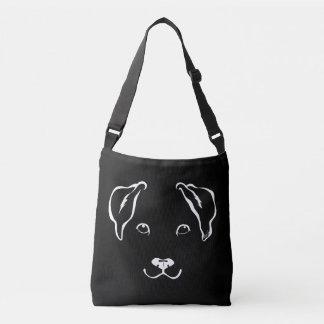 ポケットが付いている素晴らしい手描きの犬の十字の遺体袋 クロスボディバッグ