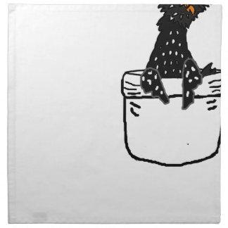 ポケットのおもしろいなポーランドの鶏 ナプキンクロス