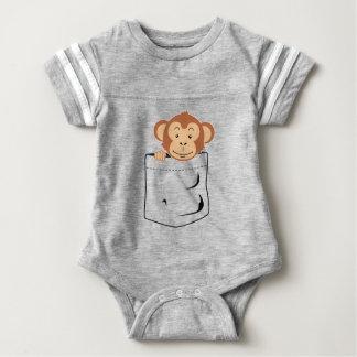 ポケットの猿 ベビーボディスーツ