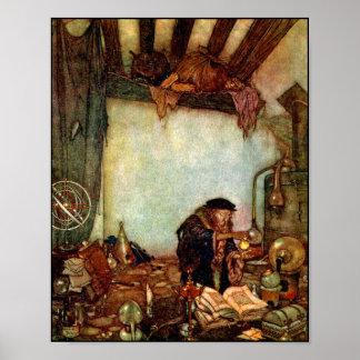 ポスターかプリント: Dulac錬金術師および彼の金ゴールドエドマンド ポスター