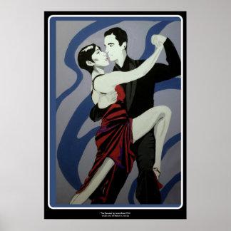 ポスターで絵を描いている「ダンサー」 ポスター
