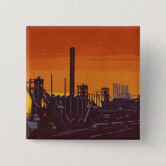 ポスターのギャリーの鋼鉄製品 5.1CM 正方形バッジ