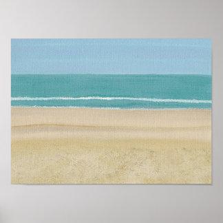ポスターのビーチの砂の海場面 ポスター