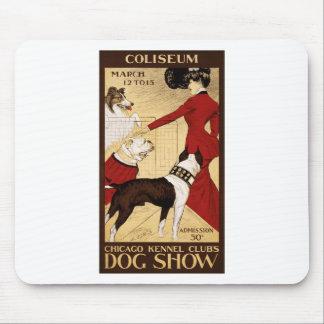 ポスターを広告するシカゴの犬小屋クラブのドッグショー マウスパッド