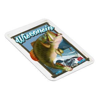 ポスターを採取しているウィスコンシンの国家 マグネット