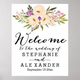 ポスターを結婚している水彩画の花束のアネモネ ポスター