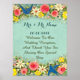 ポスターを結婚する多彩な花ポスター ポスター