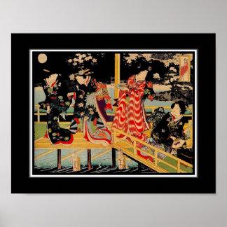 ポスターアジアヴィンテージの芸術Utagawa Kunichika日本2 プリント