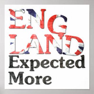 ポスターイギリスは多くを期待しました ポスター