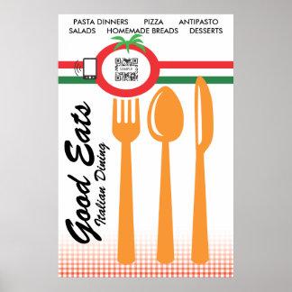 ポスターテンプレートのカジュアルな食事のイタリア語 ポスター