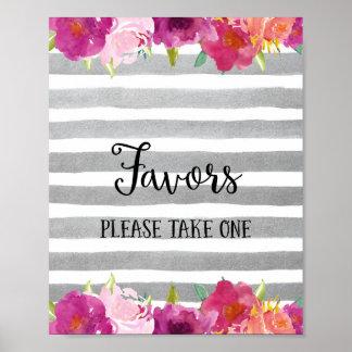 ポスタープリントを結婚する花の好意 プリント
