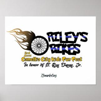 ポスターライリーのバイクのコレクター ポスター