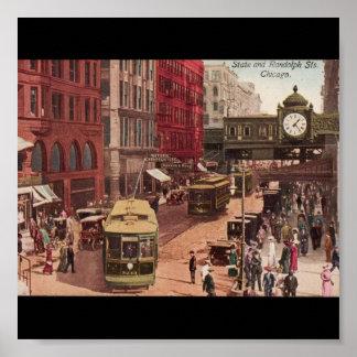 ポスターヴィンテージのシカゴの芸術州およびランドルフ1940年 ポスター