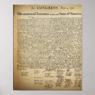 ポスターヴィンテージの独立宣言 プリント