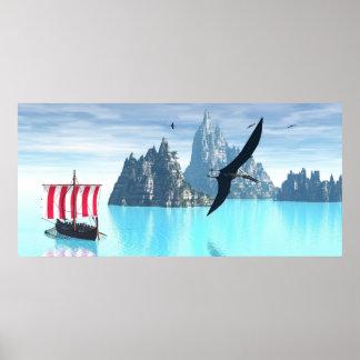 ポスター及びプリントのOdinの超現実的な旅行 ポスター