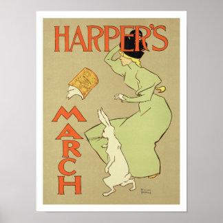ポスター広告のの再生「ハープ奏者のMag ポスター