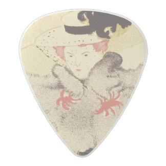 ポスター広告のの再生「LaのレビューBla アセタール ギターピック