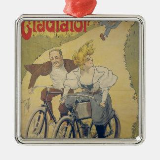 ポスター広告の剣闘士の自転車 メタルオーナメント