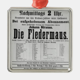 ポスター広告はヨハンによってFledermaus死にます メタルオーナメント