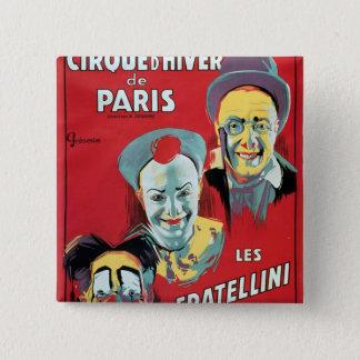 ポスター広告「Cirqueのd'Hiver deパリ 5.1cm 正方形バッジ