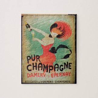ポスター広告「Purシャンペン」、Dameryから、E ジグソーパズル