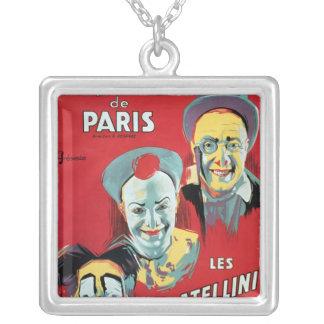 ポスター広告Cirqueの「d'Hiver deパリ シルバープレートネックレス