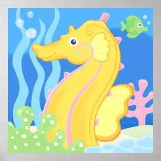 ポスター-かわいい熱帯タツノオトシゴ ポスター