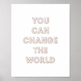 「ポスター|ピンク8x10世界」変えることができます ポスター