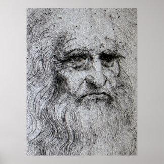 ポスター-レオナルド・ダ・ヴィンチの自画像 ポスター
