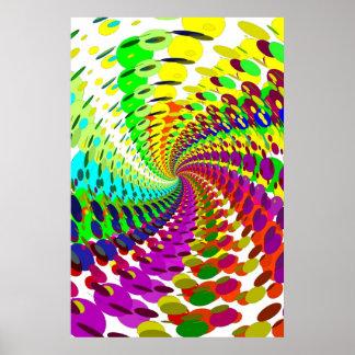 ポスター: 抽象的で/サイケデリックな螺線形 ポスター