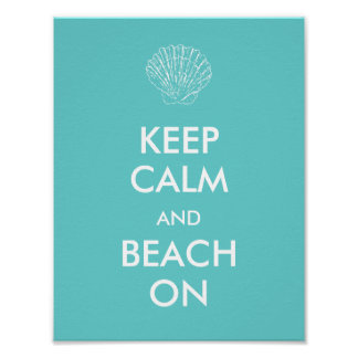 ポスター-穏やかなビーチを保って下さい ポスター
