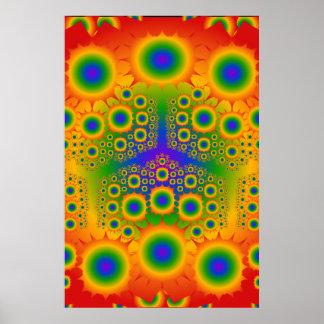 ポスター: 虹のフラクタルの爆発: ベクトル芸術 ポスター