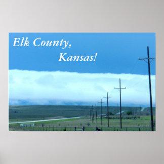 ポスター:  Elk郡、カンザス! ポスター