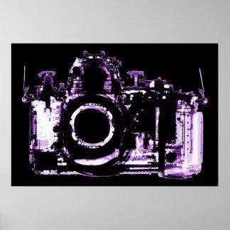 ポスター- X線の視野のカメラ-紫色 ポスター